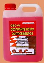 DECAPANTE ÁCIDO QUITACEMENTOS GSC- 4